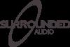 surrounded AUDIO logo dark